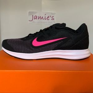 NIKE Downshifter 9 Girls Youth SNEAKERS Black Pink